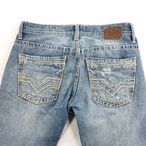 BKE Denim Carter Straight Leg Distressed